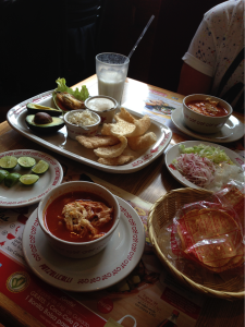 Cantina meal in Mexico
